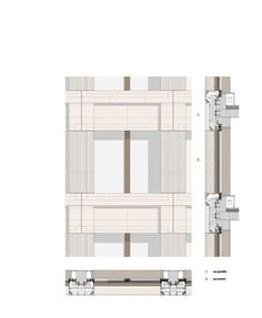 Architecture Office, Architecture Drawings, Architecture Details, Detailed Drawings, Facade Design, Technical Drawing, Cladding, Modern Classic, Planer