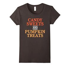 Womens Candy Sweets and Pumpkin Treats Shirt for Hallowee...