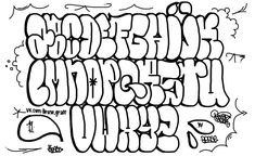 Graffiti Alphabet Styles, Graffiti Lettering Alphabet, Graffiti Text, Graffiti Words, Graffiti Writing, Tattoo Lettering Fonts, Graffiti Tagging, Graffiti Designs, Graffiti Characters