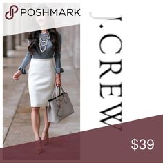 Pencil Skirt! Super Chic Off white/cream pencil Skirt! NWOT! Measurements to come J. Crew Skirts Pencil