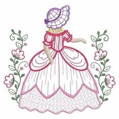 Belle in the Garden 6 - 3 Sizes! | What's New | Machine Embroidery Designs | SWAKembroidery.com Ace Points Embroidery