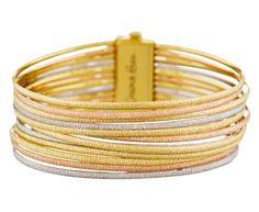Carolina Bucci - Multi-Strand Mirador Sparkly Cuff Bracelet in Bracelets Wraps at TWISTonline