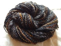 Ironwood Shadows handspun yarn with silk and locks, 110 yards of worsted weight by msfledermaus on Etsy