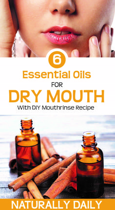 6 best essential oils for dry mouth with DIY mouthrinse recipe - Hautpflege-Rezepte - Essential Oils For Headaches, Essential Oils For Hair, Doterra Essential Oils, Young Living Essential Oils, Essential Oil Blends, Essential Oil Diffuser, Tips And Tricks, Remedies For Dry Mouth, Flu