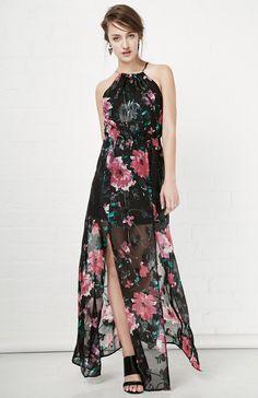 TULAROSA Bella Maxi Dress in black S at DAILYLOOK