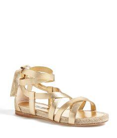 Miu Miu Gold Espadrille Sandal