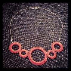 One of the first necklaces I made Washer Necklace, Necklaces, Jewelry, Jewlery, Jewerly, Schmuck, Jewels, Jewelery, Collar Necklace