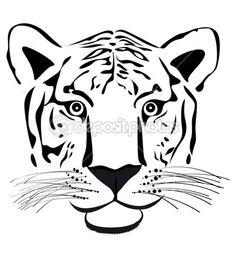 Tiger head — Stock Illustration #4651098