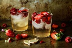 Strawberry Raspberry Ginger Moscow Mule | Heather Christo