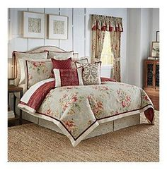 Waverly® Fresco Flourish 4-Pc. Reversible Comforter Set