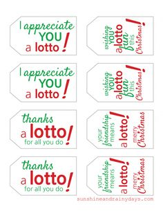 Looking for a last minute Christmas Gift idea? How about a lottery ticket with a fun Lotto Gift Tag? Use our Free Lotto Gift Tag Printable!