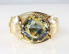 Sarah Coventry Versailles hinged Bangle glass bracelet