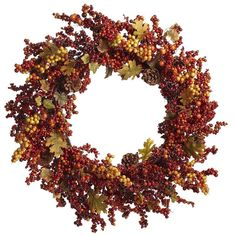 Faux Fall Berry Wreath from Pier1 on shop.CatalogSpree.com, your personal digital mall.