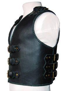 A biker vest Ragnar by Kozemyaka on Etsy Viking Armor, Biker Vest, Ragnar, Natural Leather, Leather Working, Human Body, Leather Backpack, Vests, Scrambler