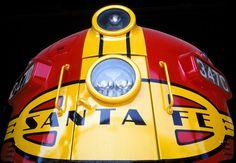 Santa Fe, F-7, diesel locomotive, Sacramento, California, Warbonnet, museum, railroad