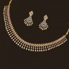 Diamond Necklace Set (137A8949-139A14681) | Vummidi Bangaru Jewellers