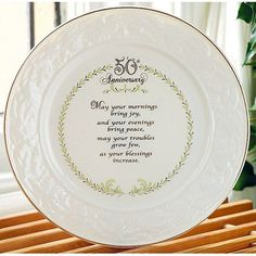 50th Anniversary plate  http://www.squidoo.com/50th-wedding-anniversary-gifts