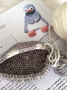 Ravelry: YarnandFloss' Baby Edward's Penguin Remove Oil Stains, Penguins, Ravelry, Crochet Hats, Grey, Amigurumi, Knitting And Crocheting, Knitting Hats, Gray