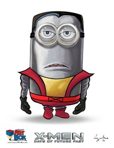 An excellent portrayal of Despicable Me's minions as fearsome and powerful mutants of Marvel's Uncanny X-MEN. Say hello to the X-Minions! Amor Minions, Minions Cartoon, Cute Minions, Minions Despicable Me, Minions Quotes, X Men, Minion Humour, Minion Pictures, Funny Pictures