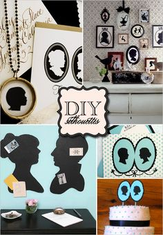DIY, Do It Yourself, Wedding Silhouettes, silhouette, templates, download