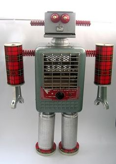 robot from household junk