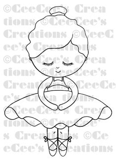 Lil' Cee Ballerina watermarked could turn into Irish step dancer!Lil' Cee Ballerina -- offering my first ever digi stamp!(UPDATED June please go to the end of this post to purchase 'Lil Cee Ballerina) i'm so excited today because i've accomplished so Felt Patterns, Applique Patterns, Embroidery Applique, Embroidery Designs, Art Drawings For Kids, Easy Drawings, Painted Paper, Digi Stamps, Felt Dolls