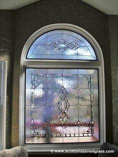 Arch Leaded Glass Window