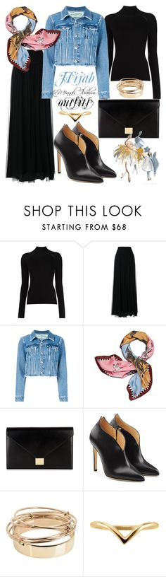 """""""#Hijab_outfits #modesty #Casual #feminine"""" by mennah-ibrahim ❤ liked on Polyvore featuring Alberta Ferretti, Off-White, Tory Burch, Victoria Beckham, Chloe Gosselin and Valentino"""