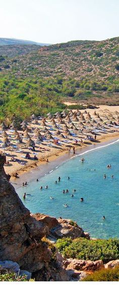 Greece Travel Inspiration - Vai beach in Crete Crete Island, Greece Islands, Crete Greece, Places To Travel, Places To See, Places In Greece, Greece Travel, Vacation Spots, The Beach