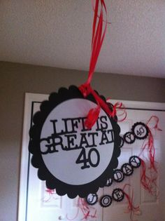 40th Birthday Decorations Double Sided Party Danglers