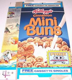 Cinnamon Mini Buns cereal - holy crap I forgot about this too, I used to love these!