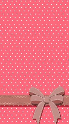 Polka dot pink and white iPhone wallpaper ( also good for other phones if you adjust it when you set it ) with a bow! Wallpaper Para Iphone 6, Bow Wallpaper, Best Wallpaper Hd, Whatsapp Wallpaper, Cute Wallpaper For Phone, Mobile Wallpaper, Pattern Wallpaper, Iphone Backgrounds, Wallpaper Backgrounds