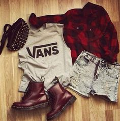 Vans. Plaid. Combat boots. Rocker girl. Grunge. Hardcore. Edgy.