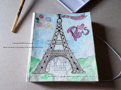 Illustrazione Torre Eiffel - Cover block notes ispirata a Parigi (Tutorial)