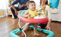 Buying a baby walker is a good way of freeing your hands, while giving your baby some freedom to move around. Learn more tips here about buying one. Baby Hacks, Baby Essentials, Baby Gear, Entertaining, Baby Jumpers, Kids, Stuff To Buy, Shopping, Babies