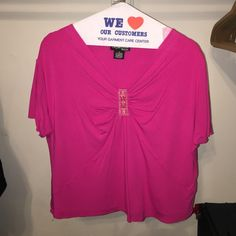 Pink top Pretty pink top XL size good condition no stains Style & Co Tops Blouses