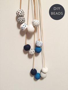 Indigo clay beads #DIY