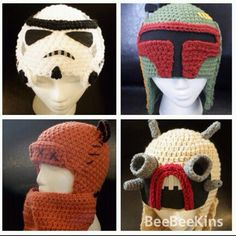 Crochet Star Wars hats: kids would love these!