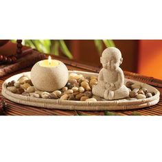 This candle-scaping set is great start to slowing down a bit, providing an excuse (as if you needed one) to design and redesign a miniature zen meditation garden, arranging its sand, natural stones, handcrafted candleholder and monk in endless variations. The point of it all being? Just being.