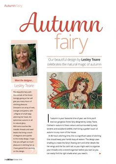 1 of 6 Autumn Fairy From Cross Stitch Collection N°267 October 2016