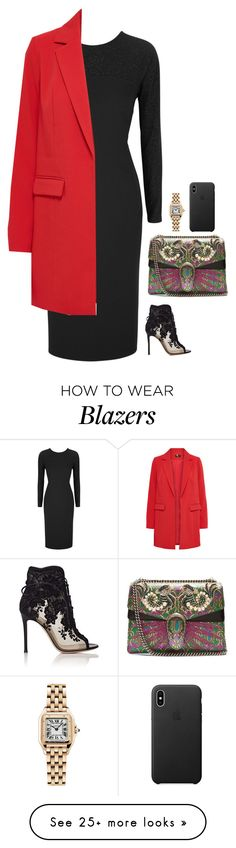 """""""#7549"""" by azaliyan on Polyvore featuring Donna Karan, Gianvito Rossi, Gucci and Cartier"""