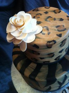 How To Paint Leopard Print on your Cake Tutorial on Cake Central on Cakecentral.com