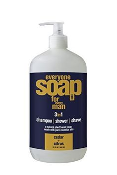 EO Products Everyone for Men 3 in 1 Cedar & Citrus Botanical Soap for Shampoo, Shower, & Shave Cedar Essential Oil, Lemon Essential Oils, Eos Products, Pure Products, Best Shaver For Men, Lemon Soap, Shaving Soap, Shaving Cream, Organic Herbs