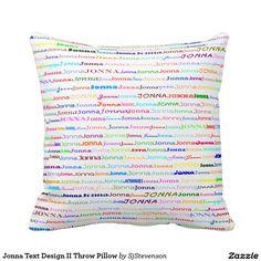 Jonna Text Design II Throw Pillow