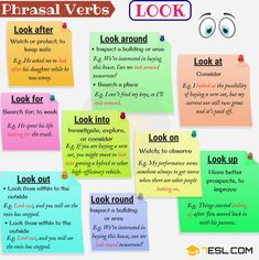 Phrasal Verbs with: Look