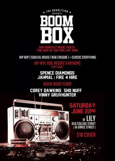 June 22, 2013 Music Party, Boombox, House Music, I Party, Reggae, Hip Hop, Parties, Entertaining, June 22