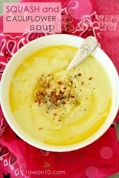 Raw on $10 a Day (or Less!): Squash and Cauliflower Soup: Raw Vegan Recipe
