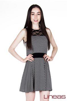 Vestido. Modelo 17734. Precio $300 MXN #Lineas #outfit #moda #tendencia #2014 #ropa #prendas #estilo #outfit #primavera #vestido