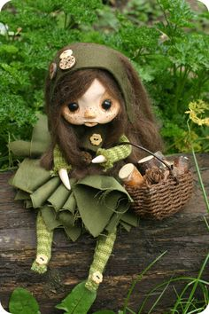 Autumn Fairy  OOAK Art Doll by TheDollAndThePea on Etsy,