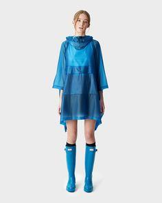 Hunter Original Vinyl Poncho - Ocean Blue Xs/S Vinyl Raincoat, Hunter Original, Core Collection, Vinyls, Capes, Ocean, Clothes, Sport, Black